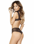 High Drama Black Lace Bra & High Waist Panty Set