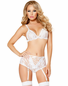 Honeymoon Fantasy Lace Bra & Garter Panty Set