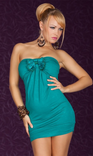 Hot Date Tonight Teal Mini Dress