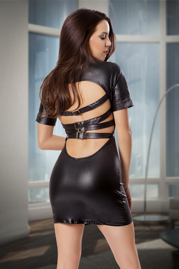 Hot & Sexy Wet Look Mini Dress