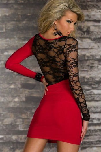 I Like It Rough Lace Mini Dress