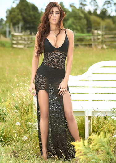 Intimate Desires Long Gown & Panty Set