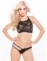 Irresistible Black Lace Bralette & Thong Set