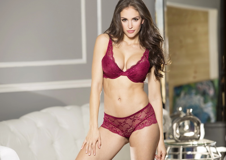 Janette's Secret Burgundy Bra & Panty Set