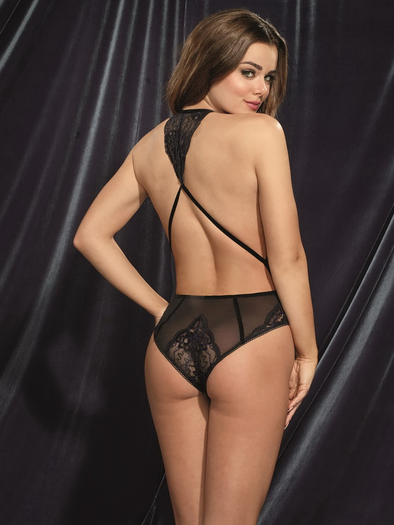 Laced Beauty Snap Crotch Teddy