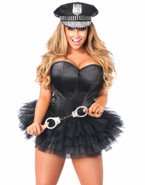 Lavish Flirty Dirty Cop Corset Costume