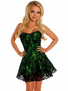 Lavishly Lace Sexy Green Corset Dress