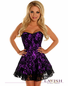 Lavishly Lace Sexy Purple Corset Dress