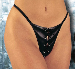 Leather Lace Up G-String