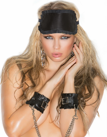 Leather Ruffle Blindfold