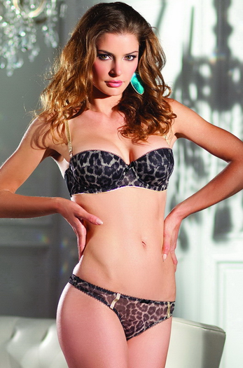 Leopard Seduction Sexy 2 PC Bra Set