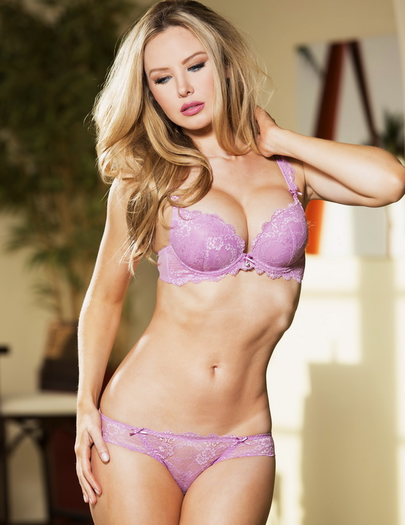 Lilac Love Push Up Bra & Panty Set