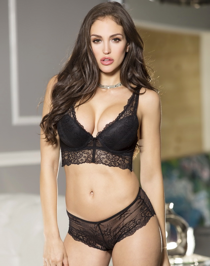 Little Black Bra & Panty Set