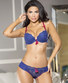 Little Miss Trouble Blue Bra & Panty Set