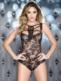 Love Like This Lace Snap Crotch Teddy