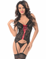 Love & Sin Sexy Lace Bustier w/ Hose