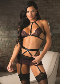 Love To Lay You Down Lace Bra, Garterbelt, & G-String Set