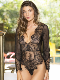 Love You Down Lace Long Sleeve Teddy
