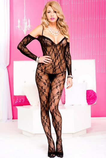 Lovely Lace Crotchless Bodystocking