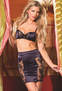 Midnight Encounters Sexy 2 PC Bra & Skirt Set