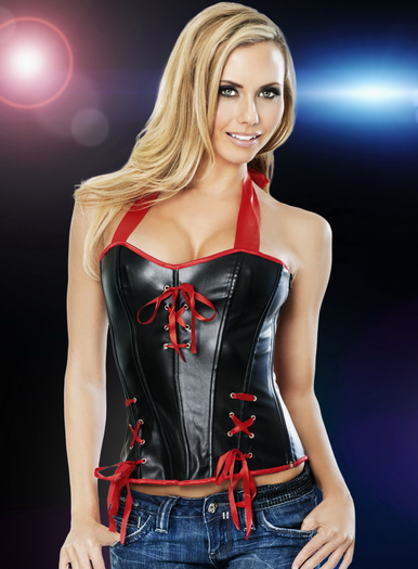 Sexy Leather Corset Hot Clubwear Lingerie Sexy Corsets