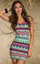 Native Seduction Mini Dress