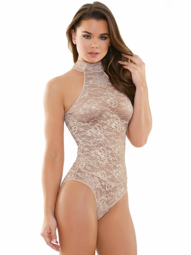 Nude Awakening Floral Lace Snap Crotch Teddy