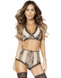 Nude Intentions Lace High Waist Panty & Bra Set