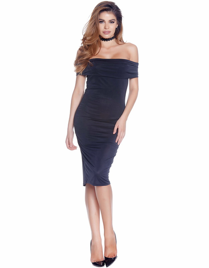On And Off Mid Bodycon Dress