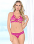 On Top Lace Open Cup Bra & Thong Set