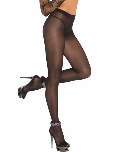 Opaque Sheer to Waist Pantyhose W/Cotton Crotch
