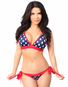 Patriotic Pucker Back American Flag Bikini Set