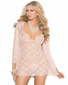 Peach Seduction Lace Babydoll Set