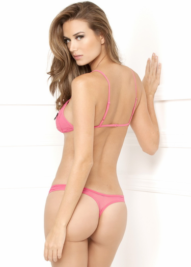 Peek-A-Boo Crochless Bra and Panty Set