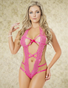 Pink Passion Lace Teddy