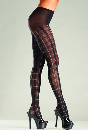 Please Me Plaid Pantyhose
