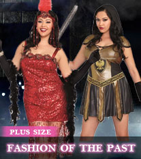 Plus Size Fashion of The Past Costumes
