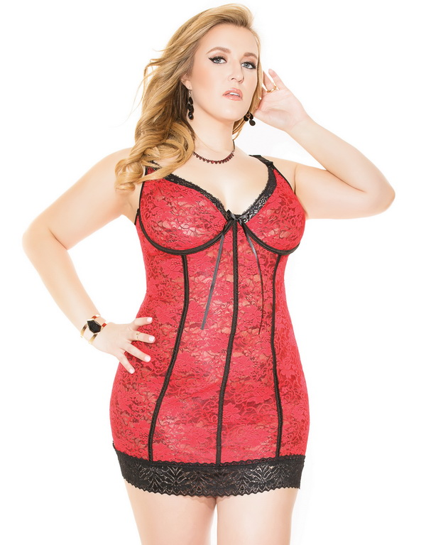 Naughty plus size discount lingerie