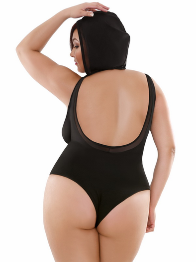 Plus Size Play With Me Hooded Snap Crotch Playsuit