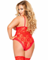 Plus Size Ring The Alarm Lace Teddy