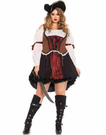 Plus Size Ruthless Pirate Wench Costume