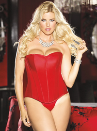 Plus Size Satin Sweet Heart Corset