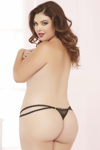 Plus Size Sexy Olivia Crotchless Thong