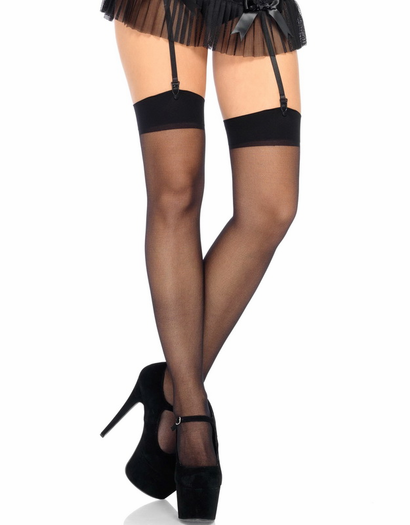 Plus Size Sheer Stocking Thigh High