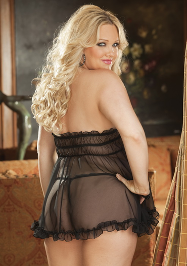 Plus Size Sweet and Innocent Babydoll