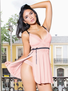Positively Pretty Pink Babydoll & Thong Set