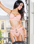 Positively Pretty Pink Bra, Garterbelt, & Thong Set