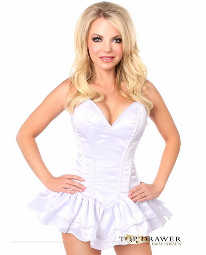 Pretty In White Sexy Corset Dress