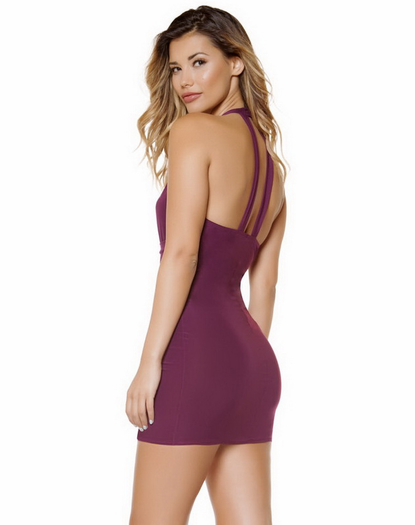 Pretty Pleaser Plum Mini Dress