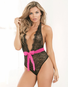 Red Diamond Hot For You Lace Open Crotch Teddy